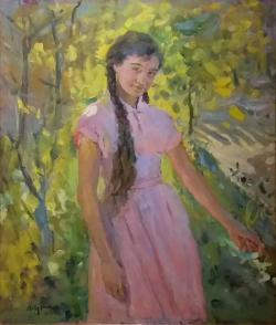 Девушка в саду