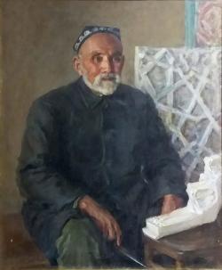 Портрет народного мастера Т.Арслонкулова
