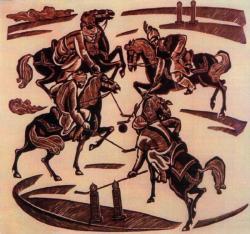Игра в мяч на лошадях