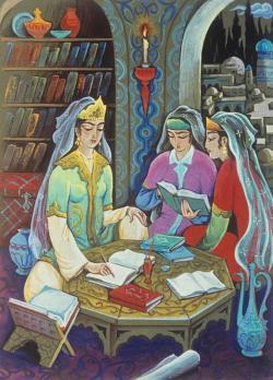 Нодирабегим с поэтессами